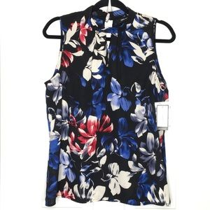 Nine West - Floral Pattern Sleeveless Top - Med